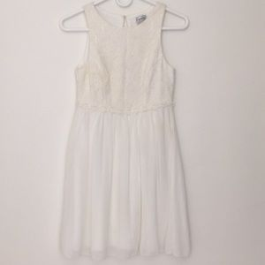 Speechless lace top off white dress
